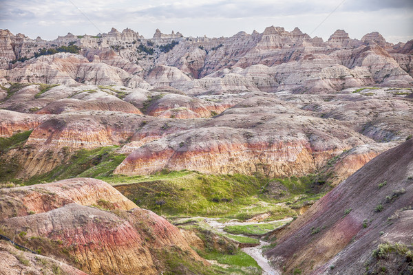 Yellow Mounds Landscape In The Badlands Stock photo © searagen