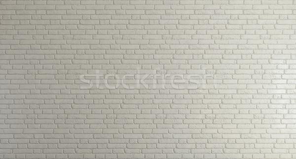 Beyaz tuğla duvar temizlemek dizayn ev arka plan Stok fotoğraf © sedatseven
