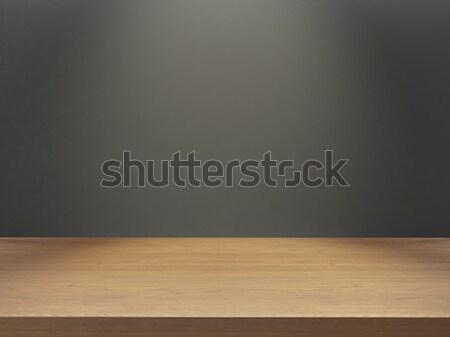 Ahşap büro gri duvar ışık etki Stok fotoğraf © sedatseven