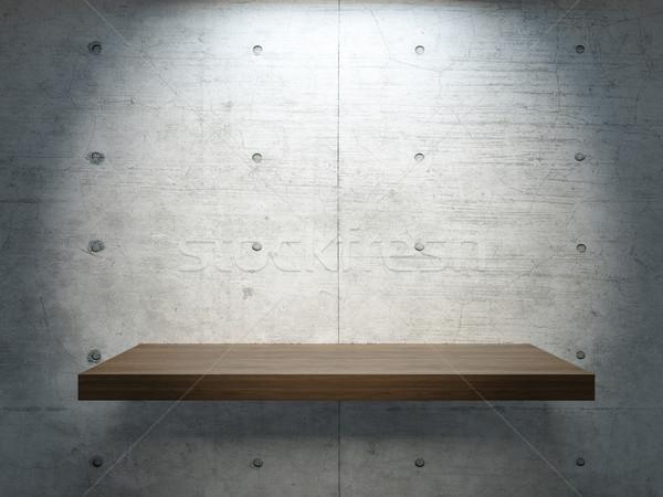 wooden stand under spot light Stock photo © sedatseven