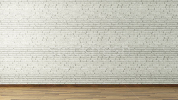 white brick wall 3d rendering Stock photo © sedatseven