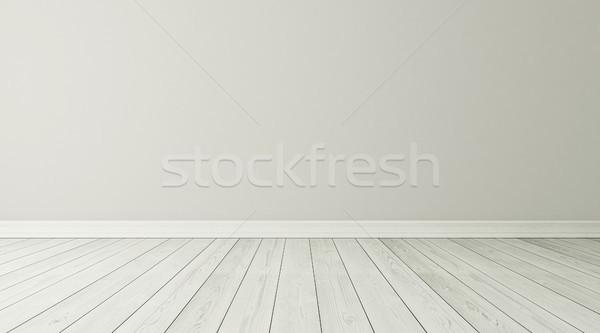 Stanza vuota interni bianco 3D abstract Foto d'archivio © sedatseven