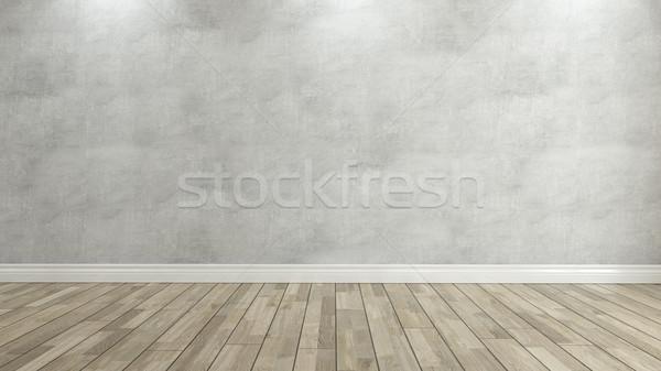 Beton duvar 3D ev ev Stok fotoğraf © sedatseven