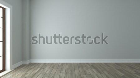 Boş oda iç pencere iç mimari 3D Stok fotoğraf © sedatseven