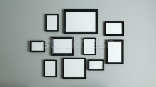 Stock fotó: Kép · fekete · keret · keret · fotó · művészet