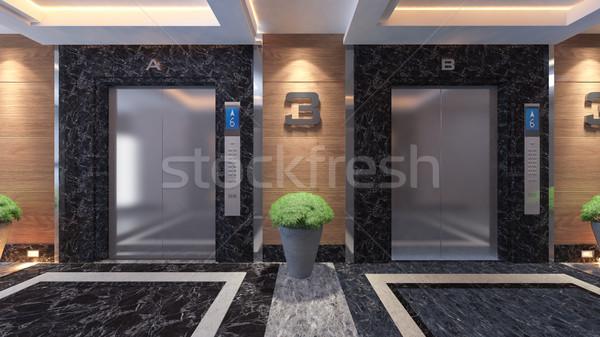 современных металл лифта дизайна Идея 3D Сток-фото © sedatseven