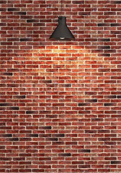 красный кирпичная стена украшение место свет Сток-фото © sedatseven