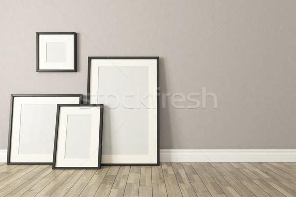 Siyah resim kareler şablon dizayn Stok fotoğraf © sedatseven