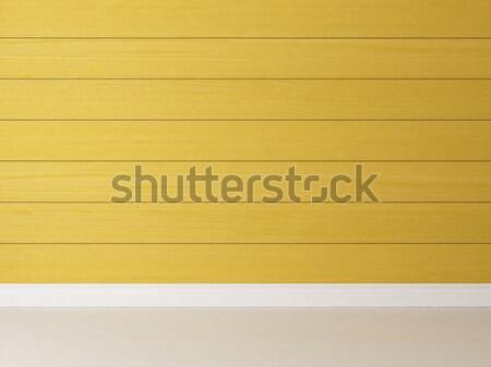 horizontal yellow wooden wall background Stock photo © sedatseven