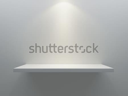 Stok fotoğraf: Boş · raf · durmak · duvar · spot · ışık