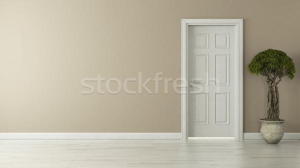 закрыто американский двери Живопись стены Сток-фото © sedatseven