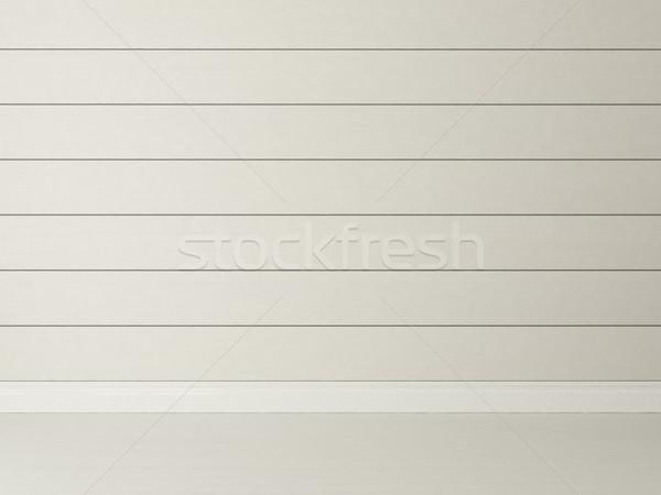 Yatay beyaz ahşap duvar boyalı Stok fotoğraf © sedatseven