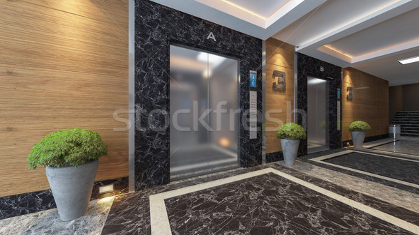 modern metal elevator design  Stock photo © sedatseven