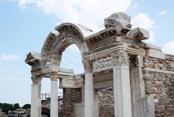 Ancient ruins in Ephesus in Turkey Stock photo © sedatseven