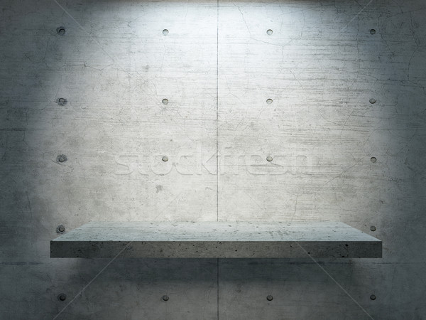 concrete stand under spot light Stock photo © sedatseven
