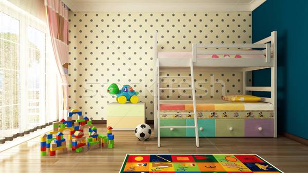 Stok fotoğraf: çocuklar · oda · 3D · dizayn · tatlı