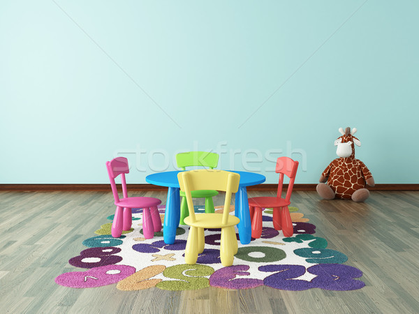 preschool kids room Stock photo © sedatseven