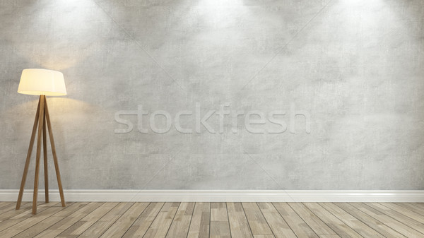 Beton duvar ışık 3D spot Stok fotoğraf © sedatseven