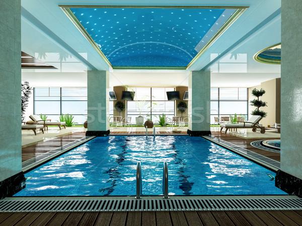 Stok fotoğraf: Yüzme · havuzu · dizayn · fikir · ahşap · güverte