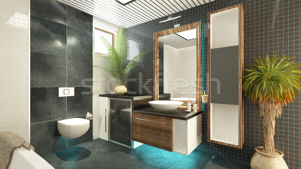 Banyo dizayn 3D iç model Stok fotoğraf © sedatseven