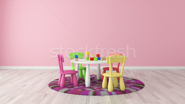 Enfants chambre maternelle enfant coloré table Photo stock © sedatseven