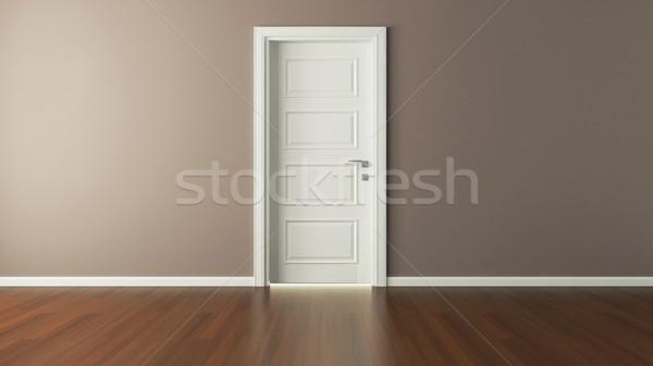 white american door 3d render Stock photo © sedatseven