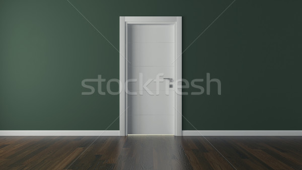 lacquer door with green wall Stock photo © sedatseven