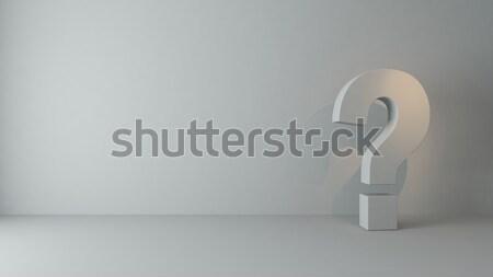 Vragen lege kamer 3d render plek licht business Stockfoto © sedatseven
