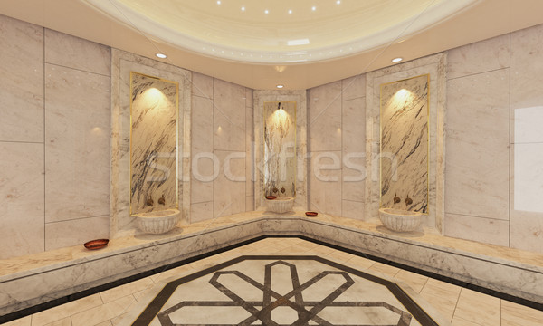 marble Turkish Hamam, bath modern design  Stock photo © sedatseven