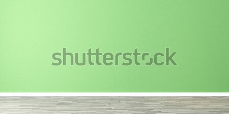 Boş oda yeşil duvar açık yeşil 3D Stok fotoğraf © sedatseven