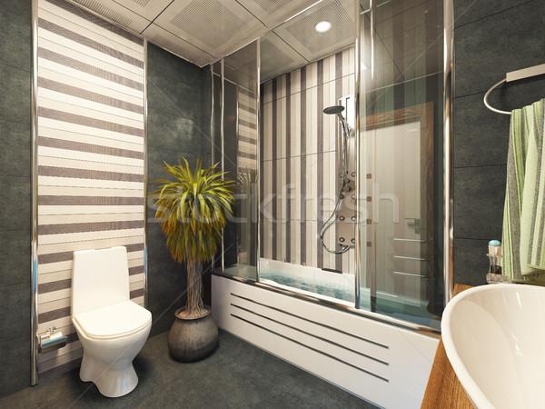 Banyo dizayn 3D ahşap Stok fotoğraf © sedatseven