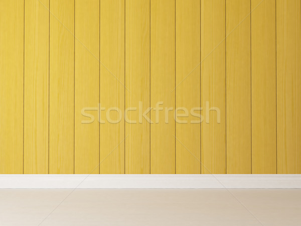 vertical yellow wooden wall background Stock photo © sedatseven