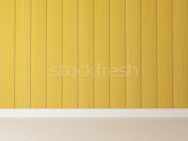 Dikey sarı ahşap duvar boyalı Stok fotoğraf © sedatseven