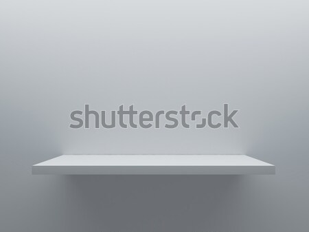 Boş raf durmak duvar 3D Stok fotoğraf © sedatseven