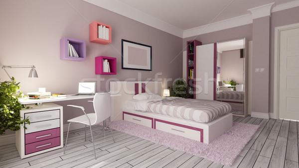 teen girl bedroom design idea Stock photo © sedatseven