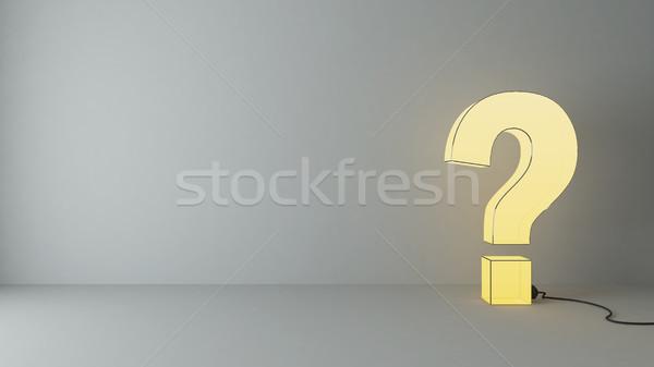 Sorular boş oda 3d render duvar spot Stok fotoğraf © sedatseven