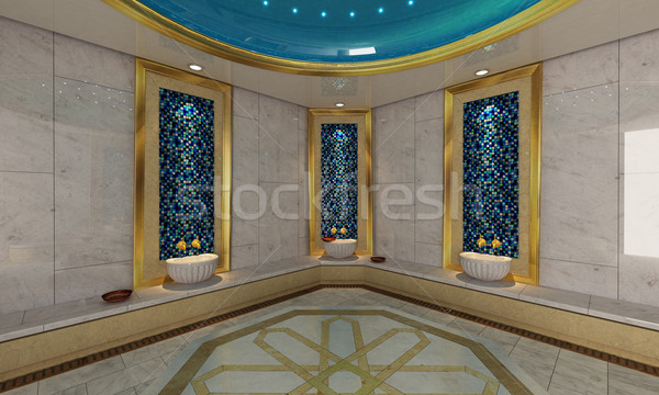 Turkish Hamam, bath modern design  Stock photo © sedatseven