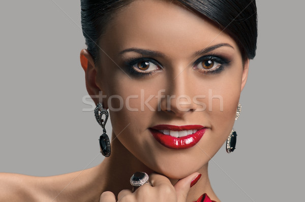 Beautiful Young Woman portrait Stock photo © seenad