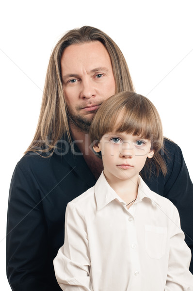 Father and son portrait Stock photo © seenad