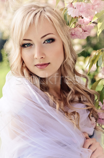 spring portrait with kerchief Stock photo © seenad