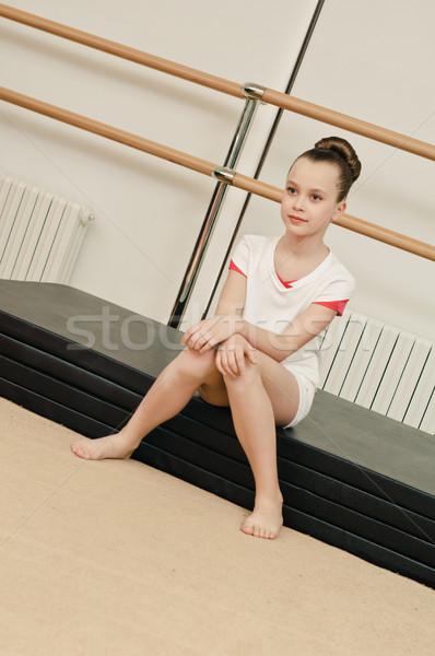 Portre jimnastikçi kız genç güzellik spor salonu Stok fotoğraf © seenad