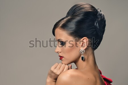 Woman with bright fashion eye make-up Stock photo © seenad