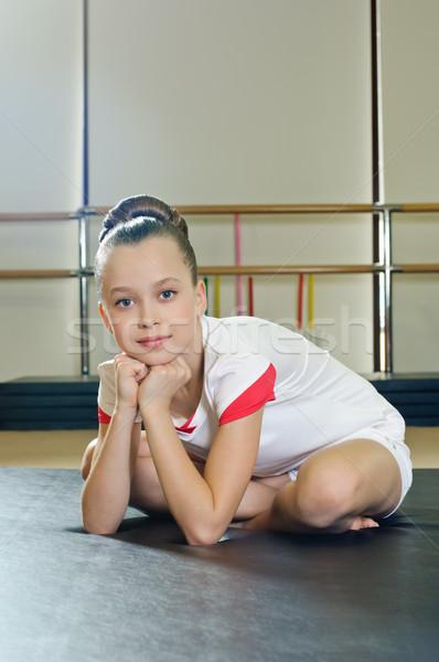 portrait of gymnast girl Stock photo © seenad
