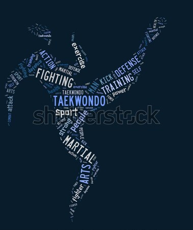 Zwemmen pictogram Blauw water meisje vrouwen Stockfoto © seiksoon