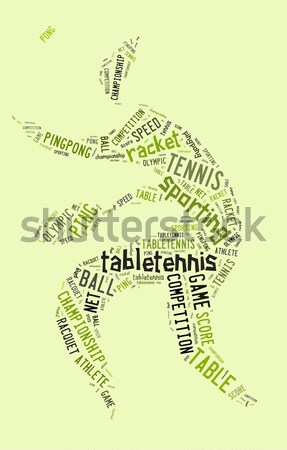taekwondo pictogram with related wordings on green background Stock photo © seiksoon