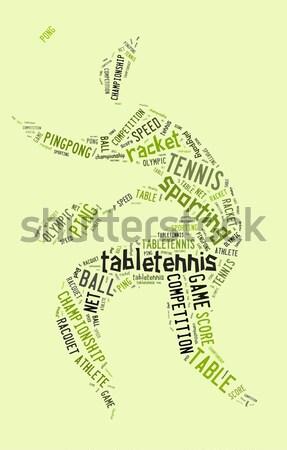 Taekwondo resim yazı yeşil renkli adam sağlık Stok fotoğraf © seiksoon