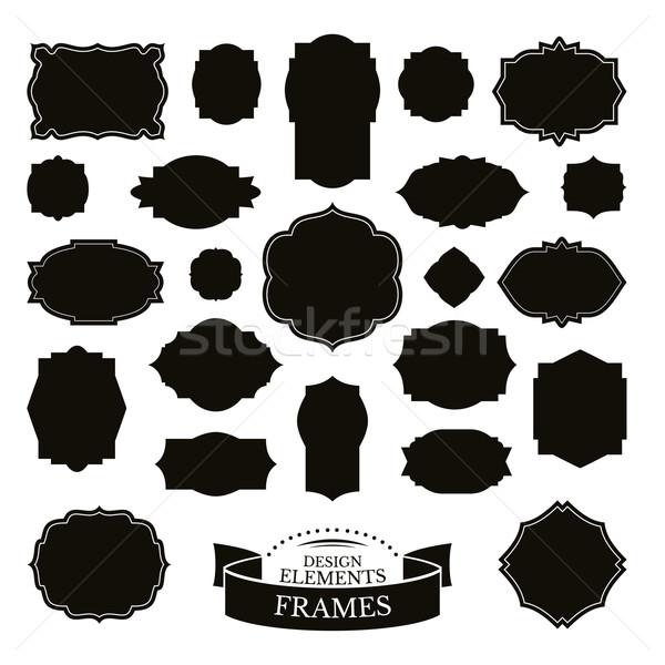 Establecer simple marcos diferente moda marco Foto stock © SelenaMay