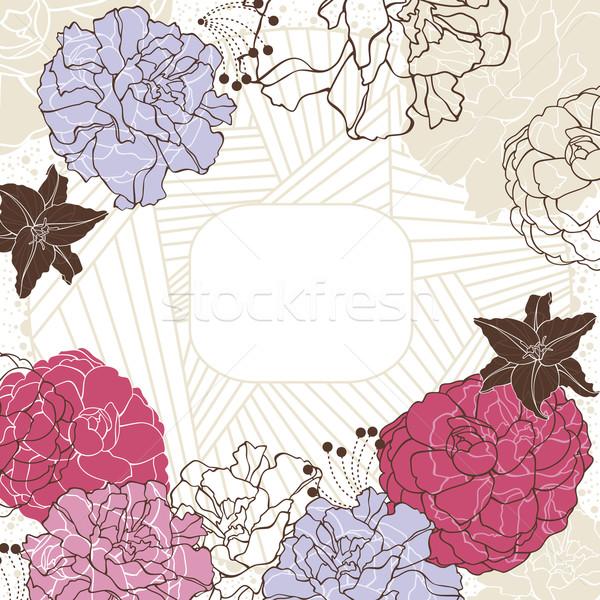 フローラル フレーム 抽象的な かわいい 花 春 ストックフォト © SelenaMay