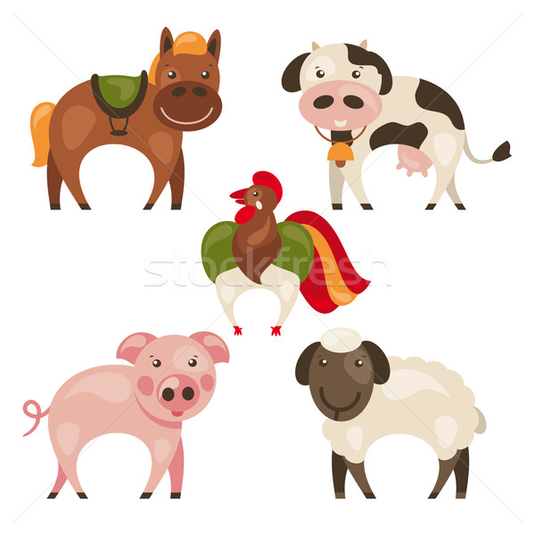 set of farm animals Stock photo © SelenaMay