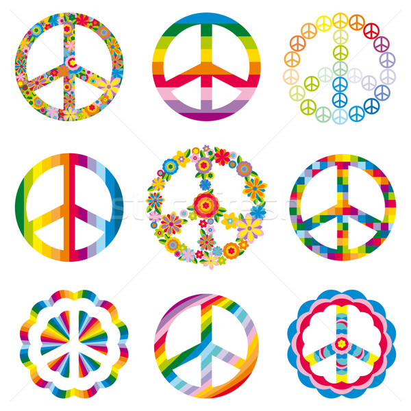 セット 平和 シンボル 抽象的な 世界 芸術 ストックフォト © SelenaMay